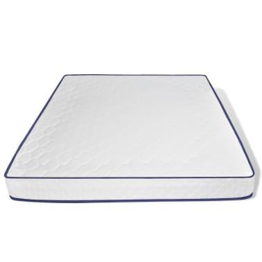 vidaXL Bett mit Memory-Schaum-Matratze 180 x 200 cm Stoff Dunkelgrau[10/15]