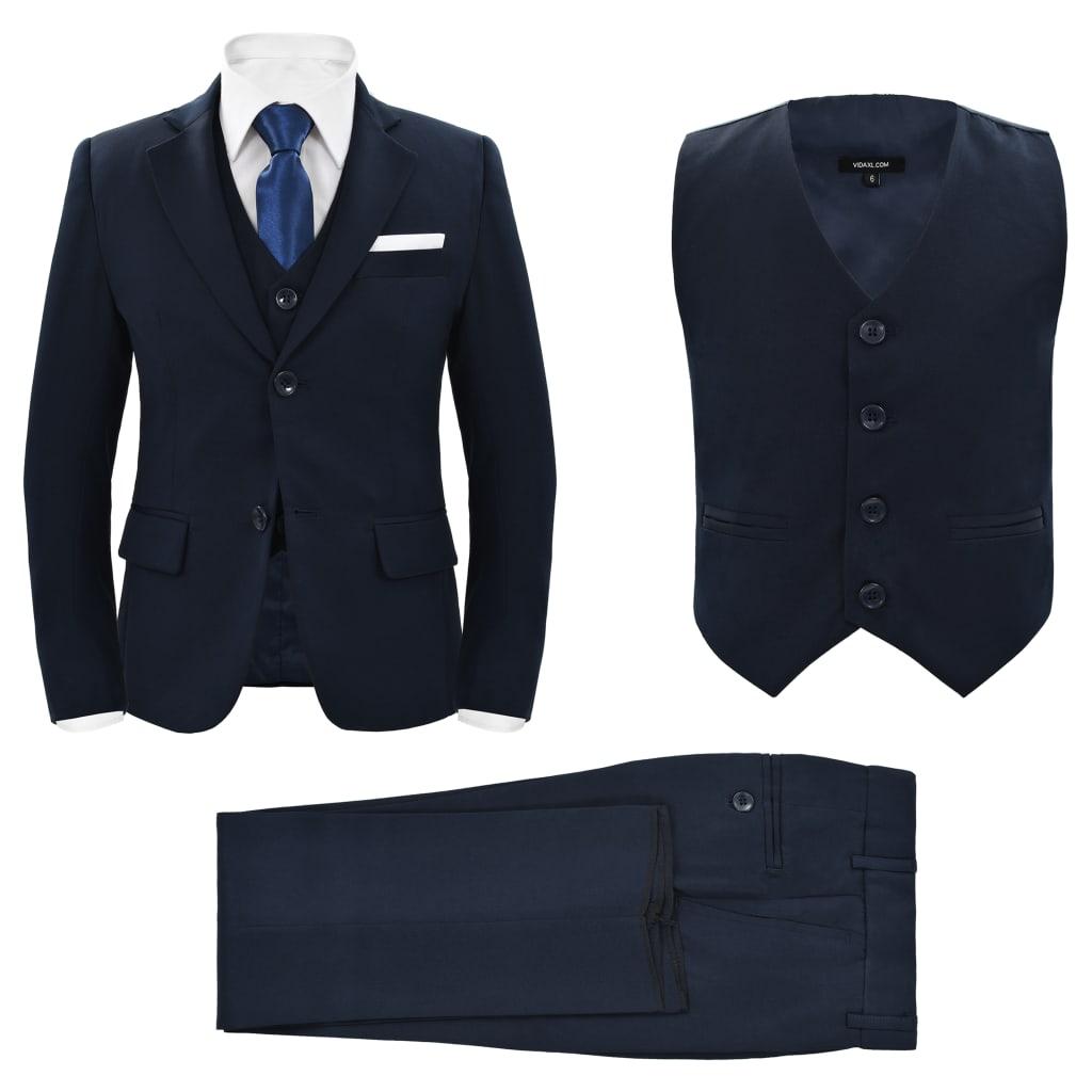 vidaXL Trojdílný večerní oblek pro děti vel. 116/122 námořnicky modrý