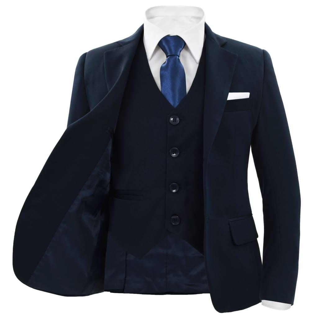 vidaXL-Kostuum-voor-Kinderen-3-delig-maat-116-122-Marineblauw-Kinderkostuum miniatuur 2