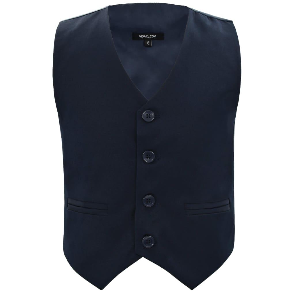 vidaXL-Kostuum-voor-Kinderen-3-delig-maat-116-122-Marineblauw-Kinderkostuum miniatuur 3