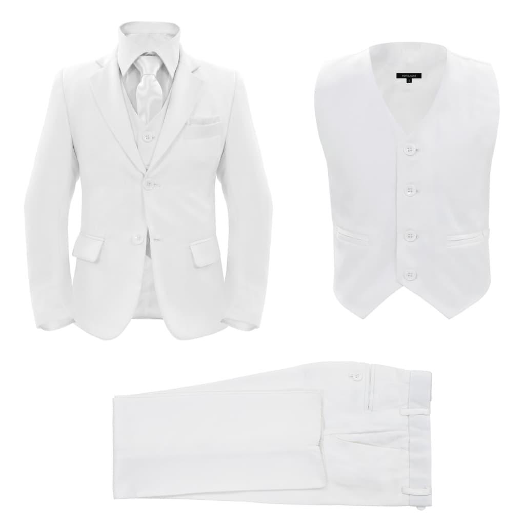 vidaXL Trojdílný večerní oblek pro děti vel. 104/110 bílý