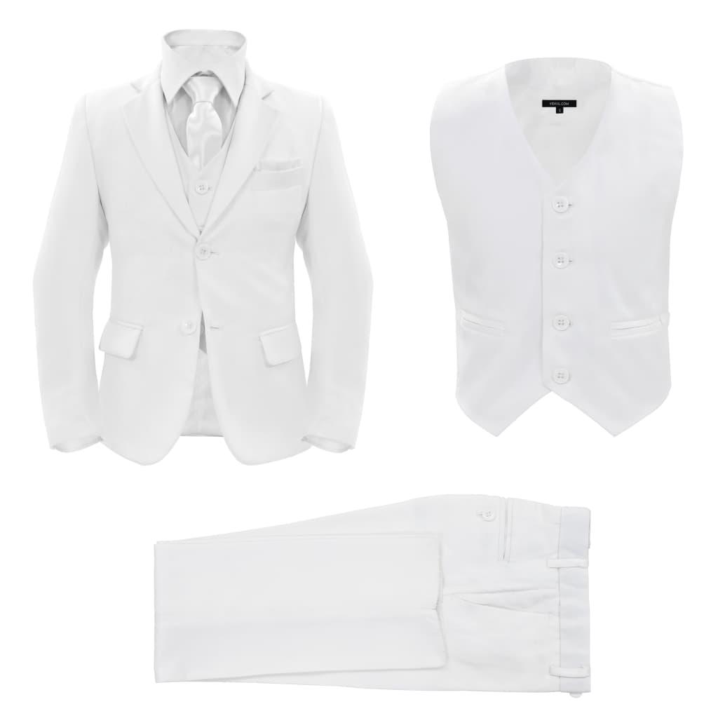 vidaXL Trojdílný dětský oblek velikost 116/122 bílý