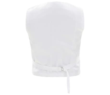 vidaXL Costum de ocazie pentru copii, 3 piese, alb, mărime 116/122[4/8]