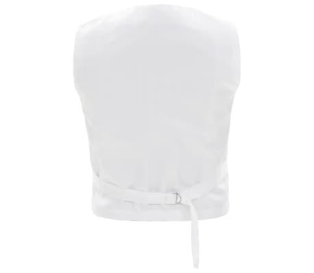 vidaXL Costum de ocazie pentru copii, 3 piese, alb, mărime 128/134[4/8]