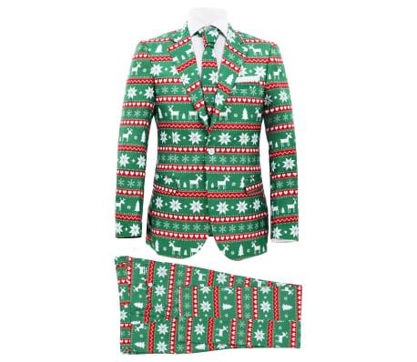vidaXL Κοστούμι Ανδρικό Χριστουγεννιάτικο 2 τεμ. Πράσινο 48 με Γραβάτα[1/10]