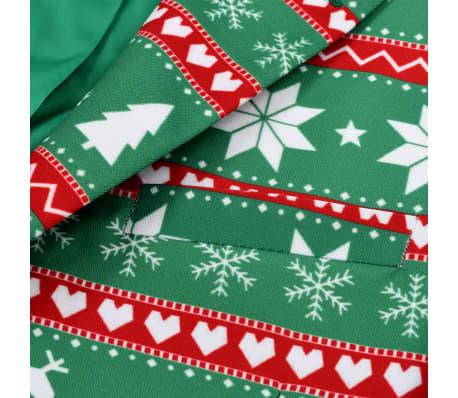 vidaXL Κοστούμι Ανδρικό Χριστουγεννιάτικο 2 τεμ. Πράσινο 48 με Γραβάτα[4/10]