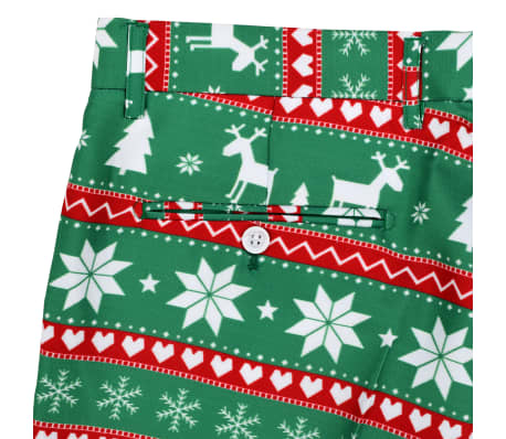 vidaXL Κοστούμι Ανδρικό Χριστουγεννιάτικο 2 τεμ. Πράσινο 48 με Γραβάτα[9/10]