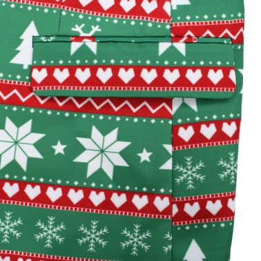 vidaXL Κοστούμι Ανδρικό Χριστουγεννιάτικο 2 τεμ. Πράσινο 48 με Γραβάτα[6/10]