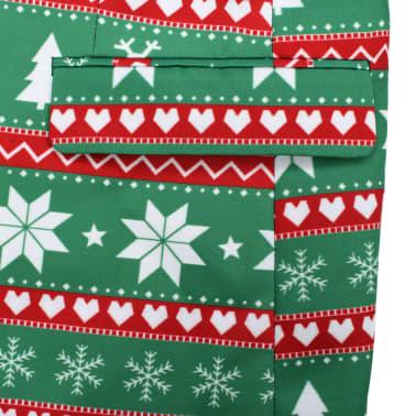 vidaXL Świąteczny garnitur męski z krawatem, 2-częściowy, 50, zielony[6/10]