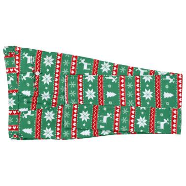 vidaXL Świąteczny garnitur męski z krawatem, 2-częściowy, 50, zielony[7/10]