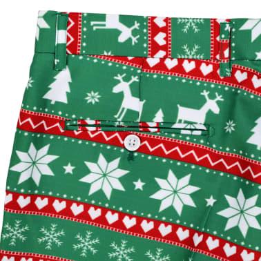 vidaXL Świąteczny garnitur męski z krawatem, 2-częściowy, 50, zielony[9/10]