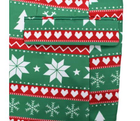 vidaXL Costum bărbătesc Crăciun, 2 piese, cravată, verde, mărimea 52[6/10]