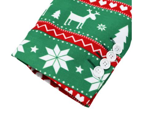 vidaXL Κοστούμι Ανδρικό Χριστουγεννιάτικο 2 τεμ. Πράσινο 54 με Γραβάτα[5/10]