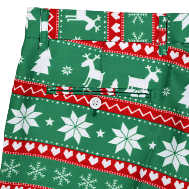 vidaXL Κοστούμι Ανδρικό Χριστουγεννιάτικο 2 τεμ. Πράσινο 54 με Γραβάτα[9/10]