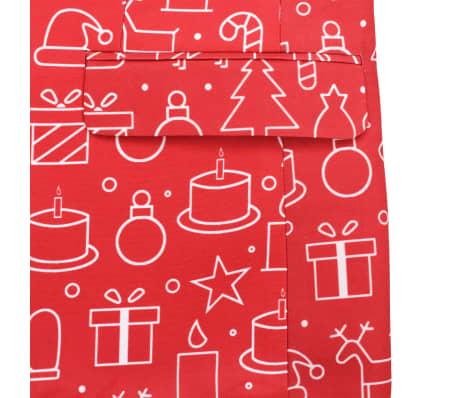 vidaXL Costum bărbătesc Crăciun, 2 piese, cravată, roșu, mărimea 46[6/10]