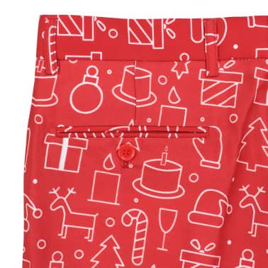 vidaXL Costum bărbătesc Crăciun, 2 piese, cravată, roșu, mărimea 46[9/10]