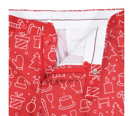 vidaXL Costum bărbătesc Crăciun, 2 piese, cravată, roșu, mărimea 48[8/10]