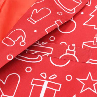 vidaXL Costum bărbătesc Crăciun, 2 piese, cravată, roșu, mărimea 48[4/10]