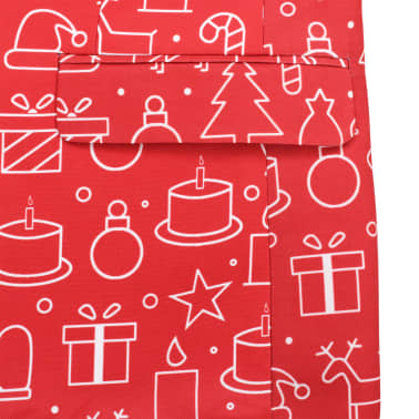 vidaXL Costum bărbătesc Crăciun, 2 piese, cravată, roșu, mărimea 48[6/10]