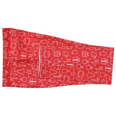 vidaXL 2-tlg. Weihnachtsanzug mit Krawatte Herren Größe 52 Rot[7/10]