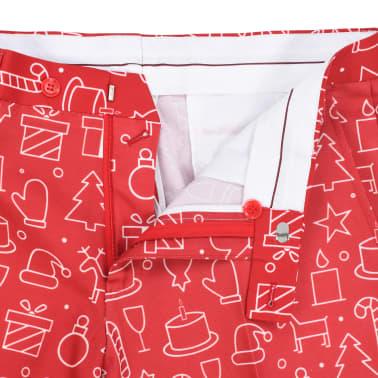 vidaXL 2-tlg. Weihnachtsanzug mit Krawatte Herren Größe 52 Rot[8/10]