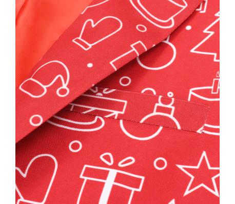 vidaXL Costum bărbătesc Crăciun, 2 piese, cravată, roșu, mărimea 56[4/10]