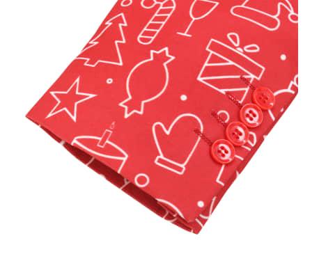 vidaXL Costum bărbătesc Crăciun, 2 piese, cravată, roșu, mărimea 56[5/10]
