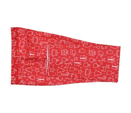 vidaXL Costum bărbătesc Crăciun, 2 piese, cravată, roșu, mărimea 56[7/10]