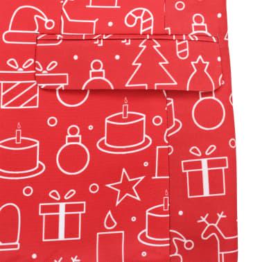 vidaXL Costum bărbătesc Crăciun, 2 piese, cravată, roșu, mărimea 56[6/10]