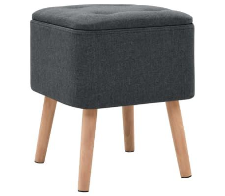 vidaXL Zestaw prostokątnych stołków ze schowkiem, 2 szt., ciemnoszary[4/11]