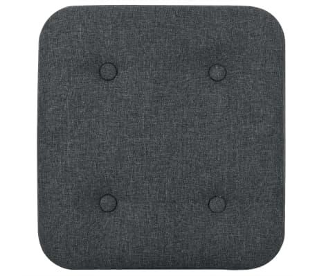vidaXL Zestaw prostokątnych stołków ze schowkiem, 2 szt., ciemnoszary[8/11]