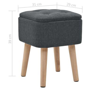 vidaXL Zestaw prostokątnych stołków ze schowkiem, 2 szt., ciemnoszary[11/11]