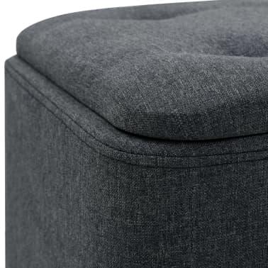 vidaXL Zestaw prostokątnych stołków ze schowkiem, 2 szt., ciemnoszary[9/11]