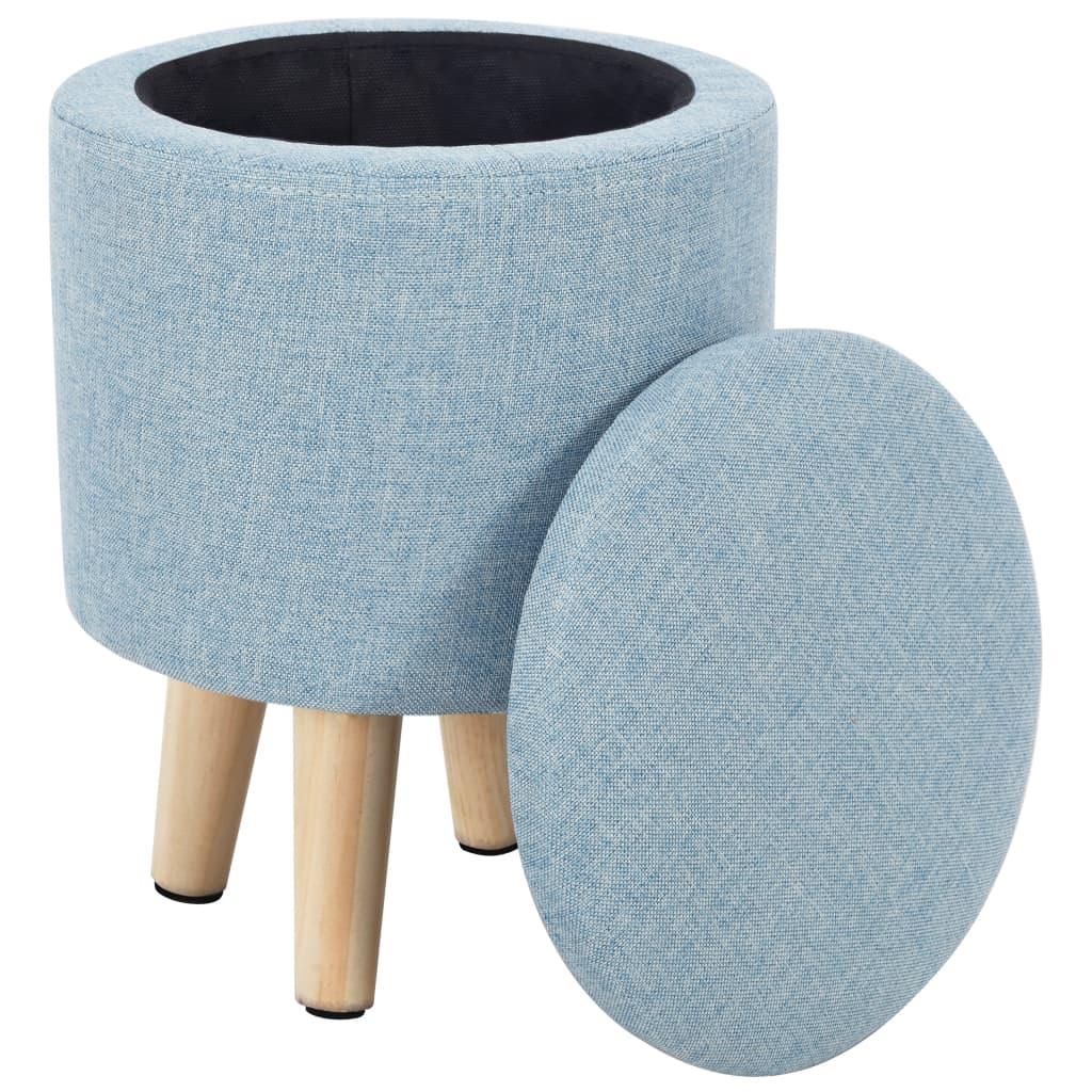 vidaXL Taburet de depozitare, albastru, material textil poza vidaxl.ro