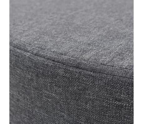 vidaXL Tabure od tkanine okrugli 56 x 40 cm tamnosivi[2/4]
