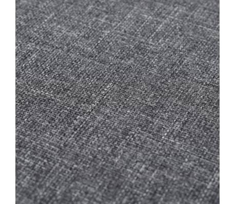 vidaXL Tabure od tkanine okrugli 56 x 40 cm tamnosivi[3/4]