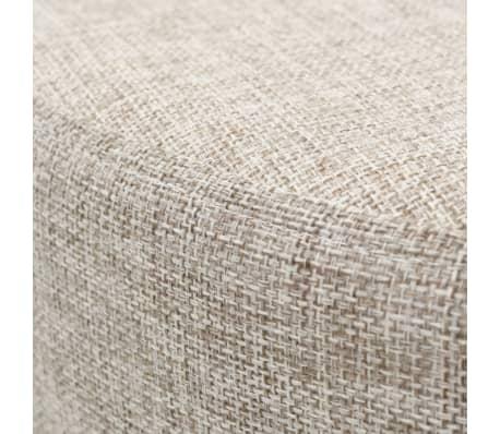 vidaXL Tabure od tkanine okrugli 56 x 40 cm bež[2/4]