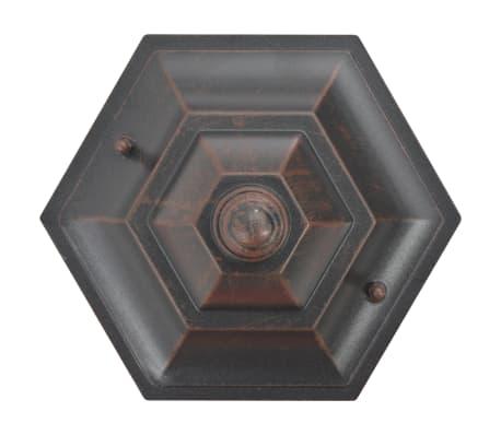 vidaXL dārza lampas, 6 gab., bronzas krāsa, 110 cm, alumīnijs, E27[4/8]
