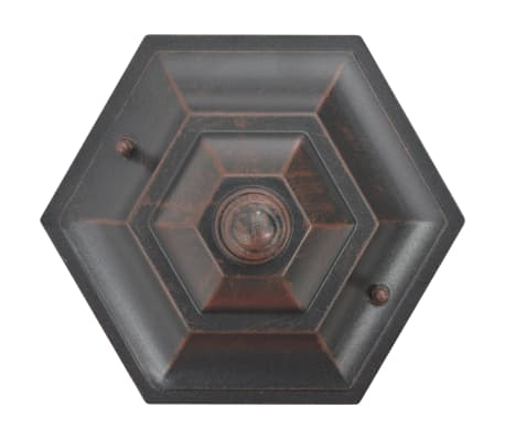 vidaXL Hagelyktestolpe E27 110 cm 6 stk aluminium bronse[4/8]
