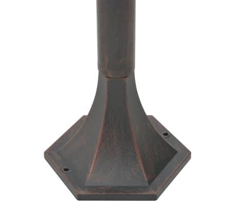 vidaXL Vrtne ulične svetilke 6 kosov E27 110 cm aluminij bronaste[5/8]
