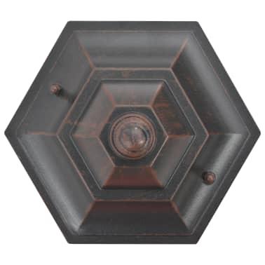 vidaXL 6 db bronzszínű alumínium kerti állólámpa, E27, 110 cm[4/8]