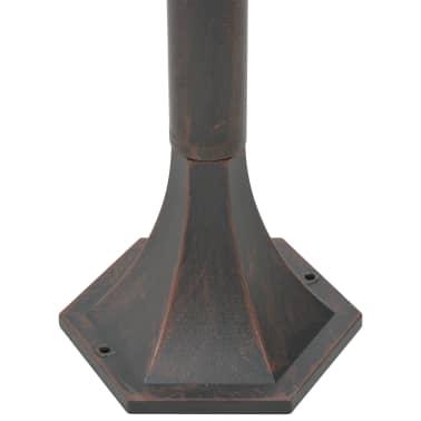 vidaXL Hagelyktestolpe E27 110 cm 6 stk aluminium bronse[5/8]