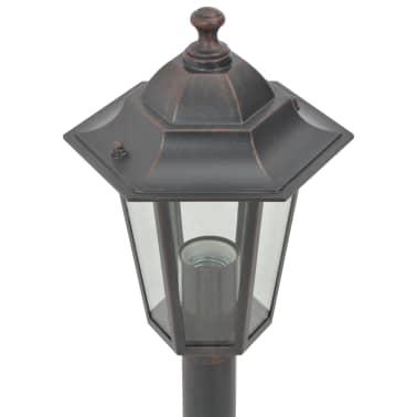 vidaXL 6 db bronzszínű alumínium kerti állólámpa, E27, 110 cm[6/8]