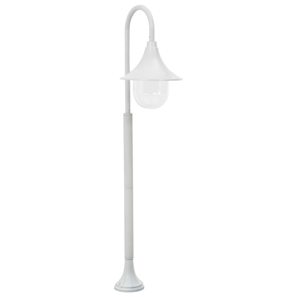 vidaXL Stâlp de iluminat pentru grădină, alb, 120 cm, aluminiu, E27 imagine vidaxl.ro
