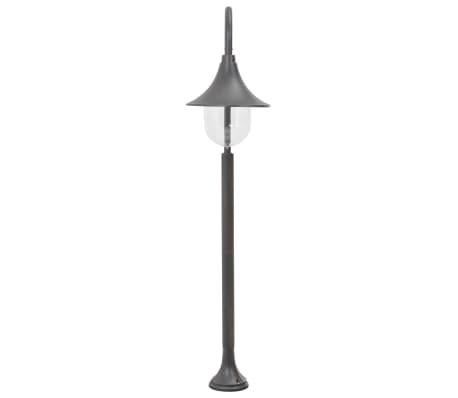 vidaXL Zahradní sloupová lampa E27 120 cm hliník bronzová[3/7]