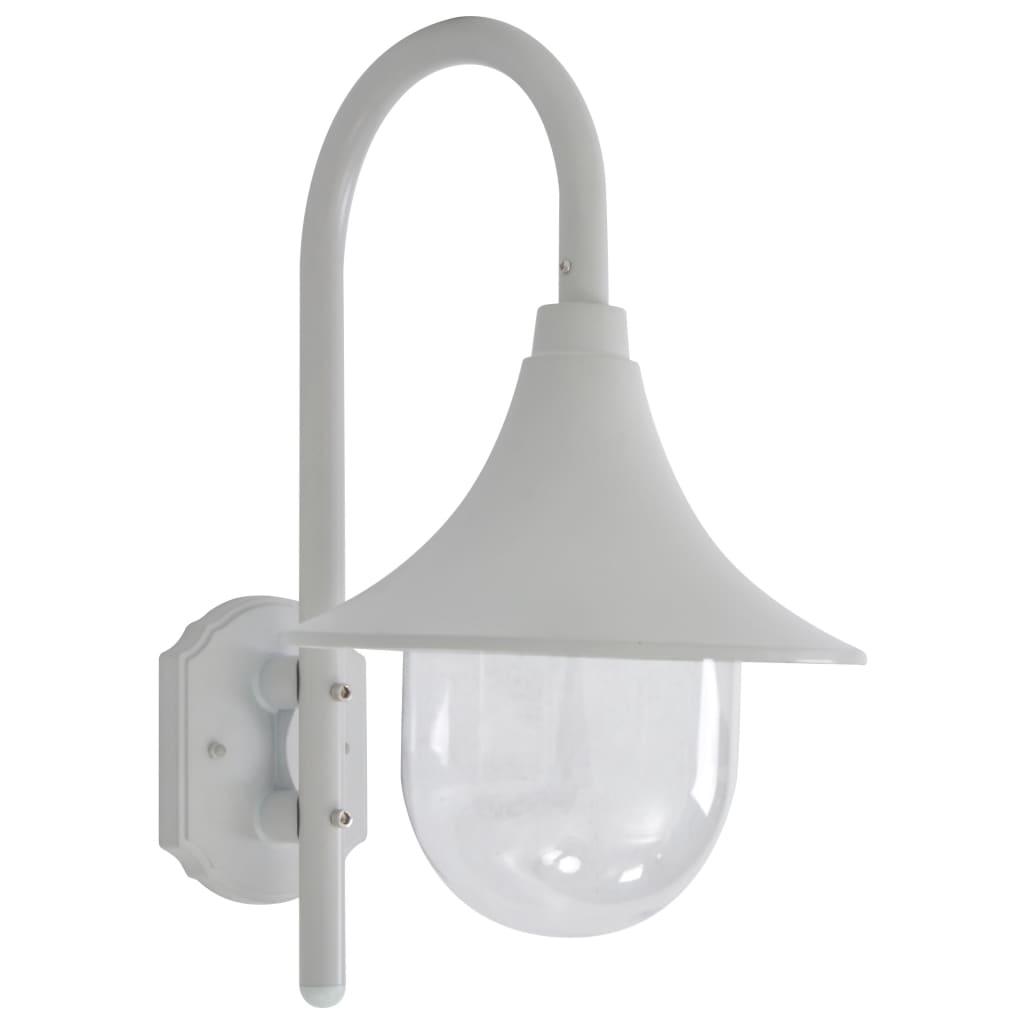 vidaXL Tuin wandlamp E27 42 cm aluminium wit