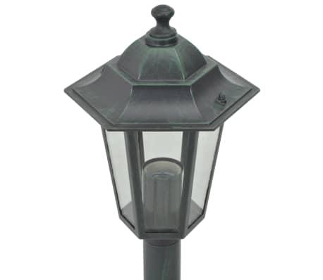vidaXL Garten-Pollerleuchte 6 Stk. E27 110 cm Aluminium Dunkelgrün[4/7]