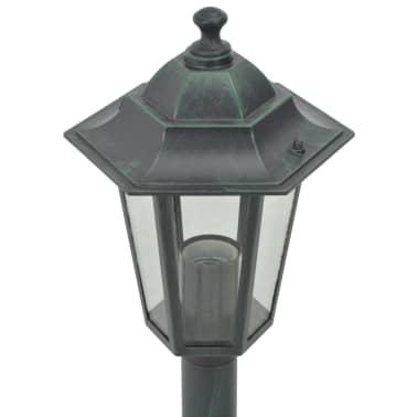 vidaXL Stâlp iluminare grădină 6 buc. E27 110 cm aluminiu verde închis[4/7]