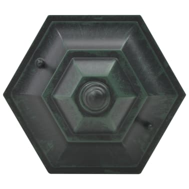 vidaXL Garten-Pollerleuchte 6 Stk. E27 110 cm Aluminium Dunkelgrün[5/7]