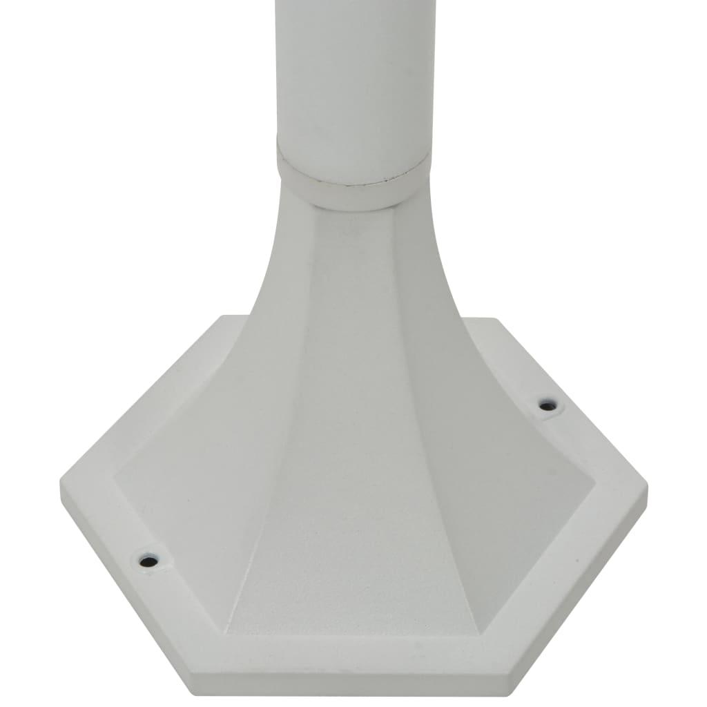 Paalverlichting voor tuin E27 110 cm aluminium wit 6 st
